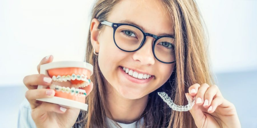 child with braces and invisalign | orthodontics